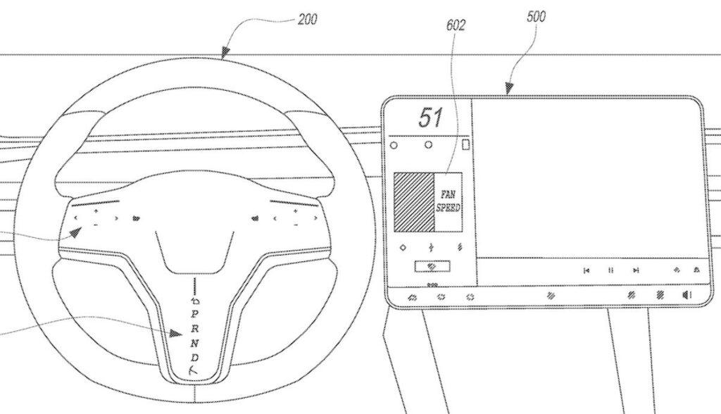 touchscreen lenkrad skizze