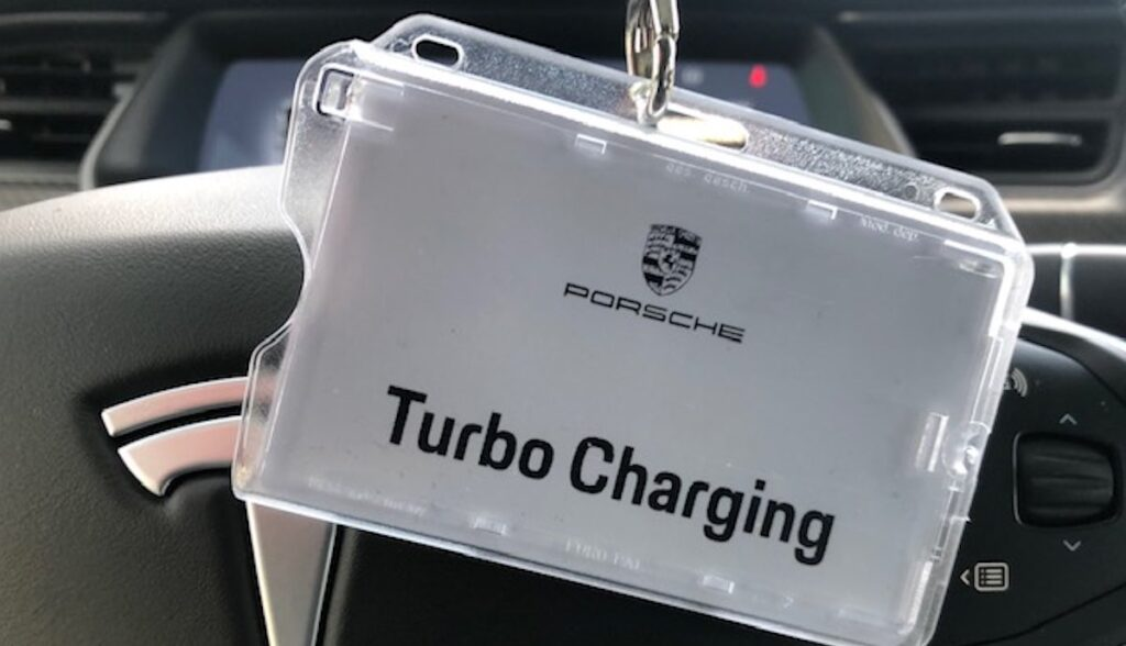 porsche turbo charging tesla