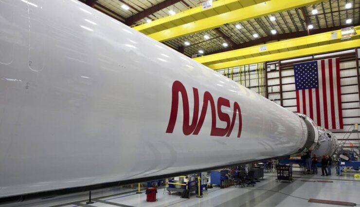 spacex falcon-9 nasa logo