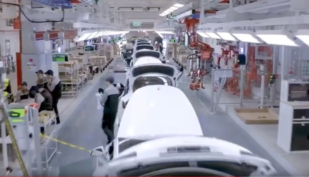 tesla model-3 gigafactory china band
