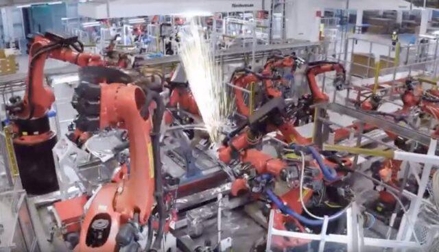 tesla model-3 gigafactory china schweissen
