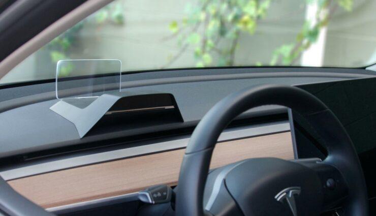 tesla model-3 headup-display
