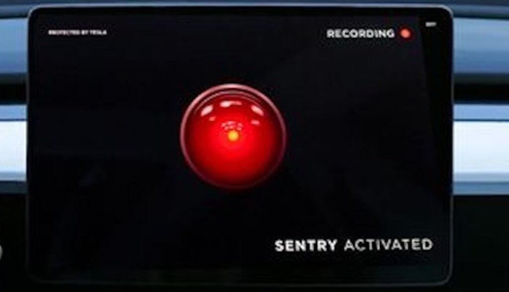 tesla sentry mode auge hal