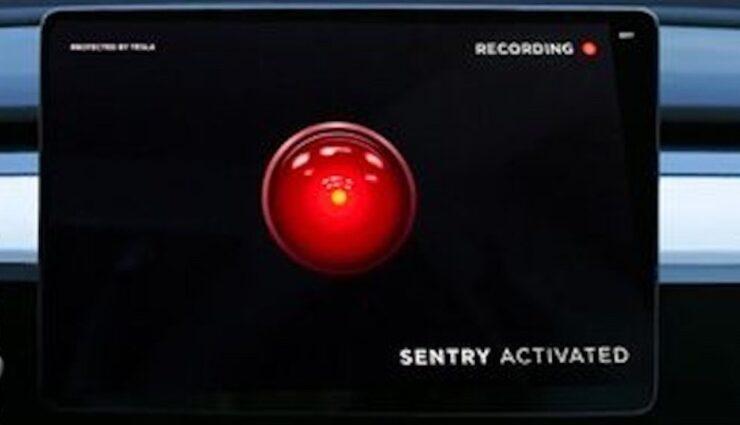 tesla sentry mode auge hal