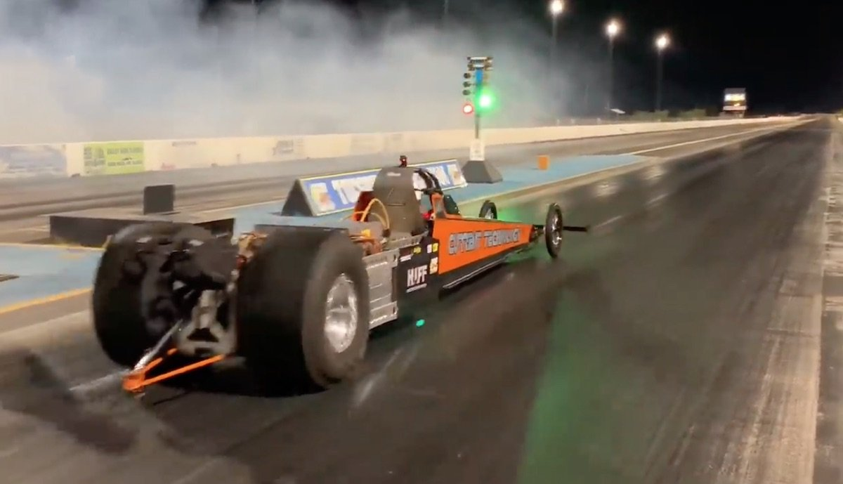 elektro dragster weltrekord 200 mph