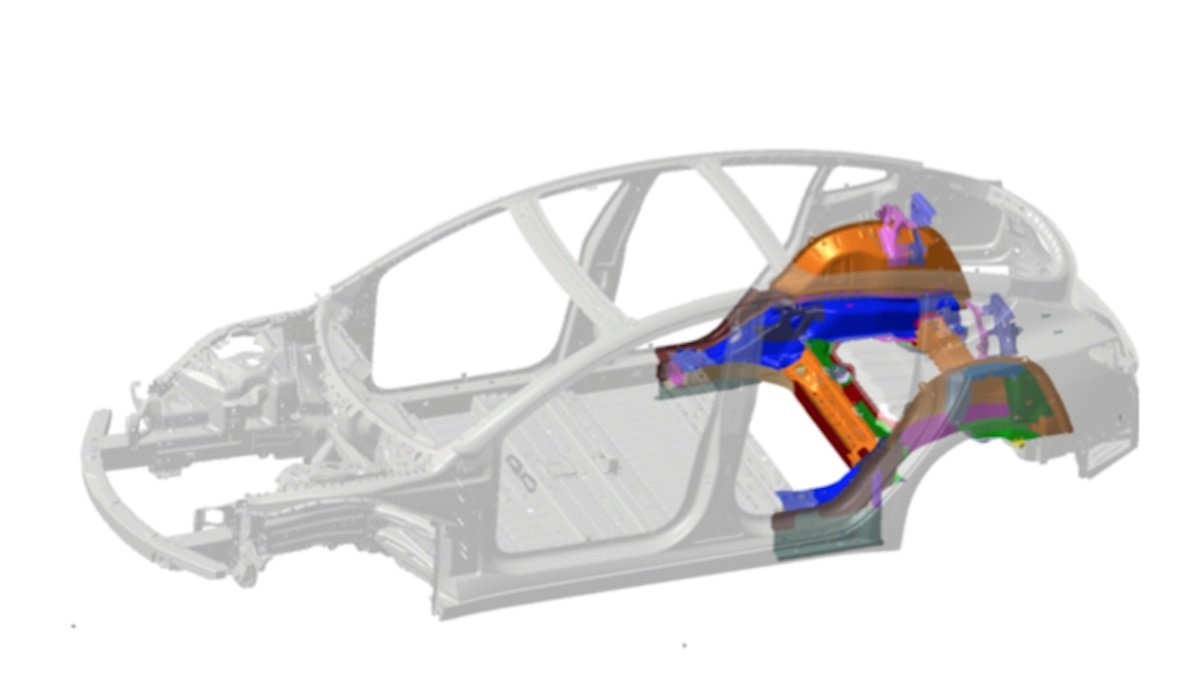 tesla model-3 underbody 3d