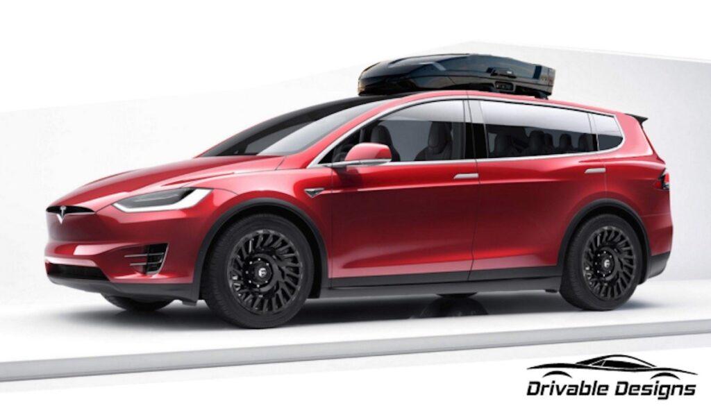 tesla model-xl drivable design van