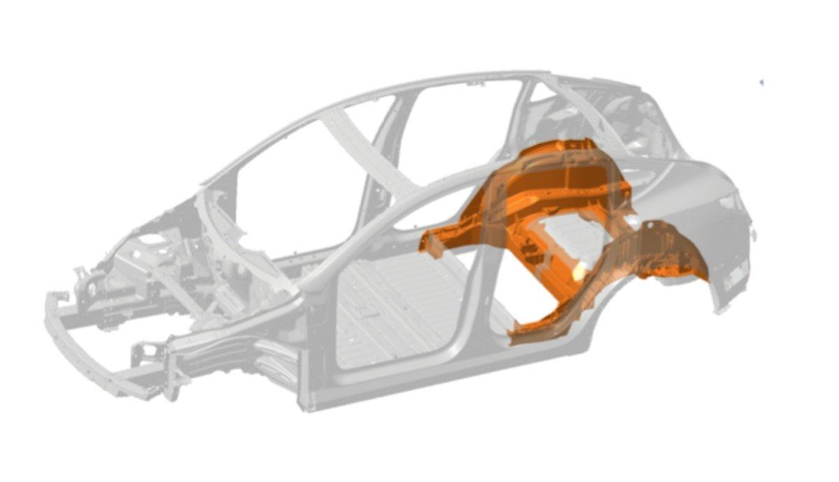 tesla model-y underbody 3d