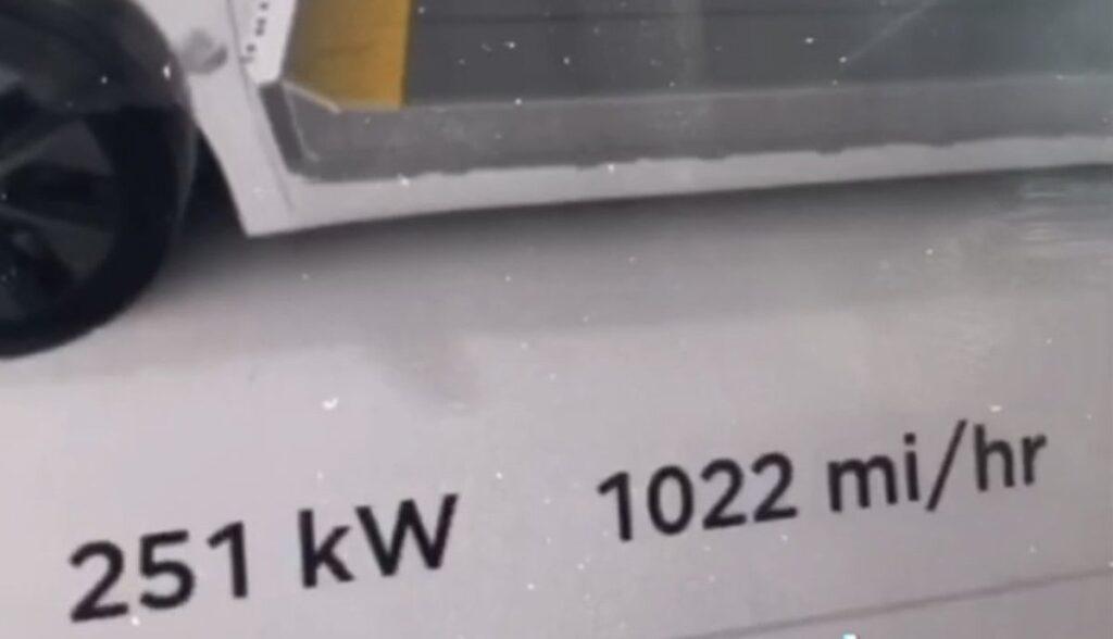 tesla model-y v3 supercharger 251kw