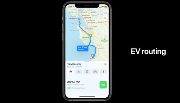 apple ios elektroauto routenplaner