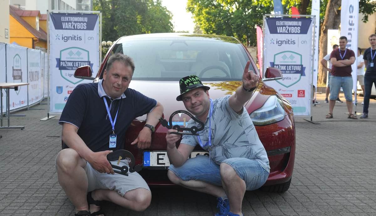 elektroauto rally litauen tesla model-3 sieger