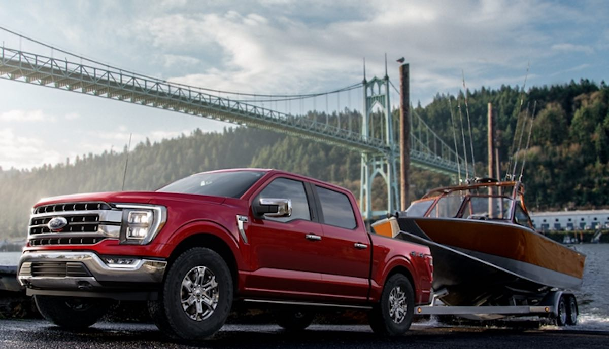 ford f-150 pickup 2021 anhänger boot