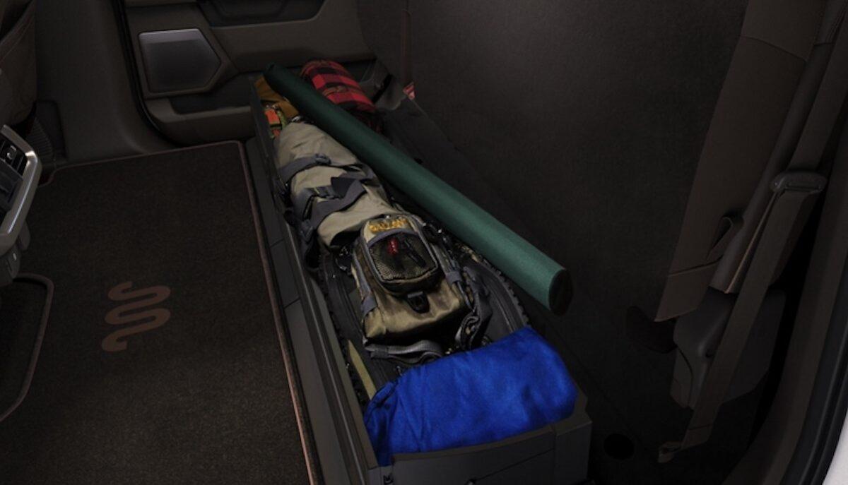 ford f-150 pickup 2021 stauraum hinten