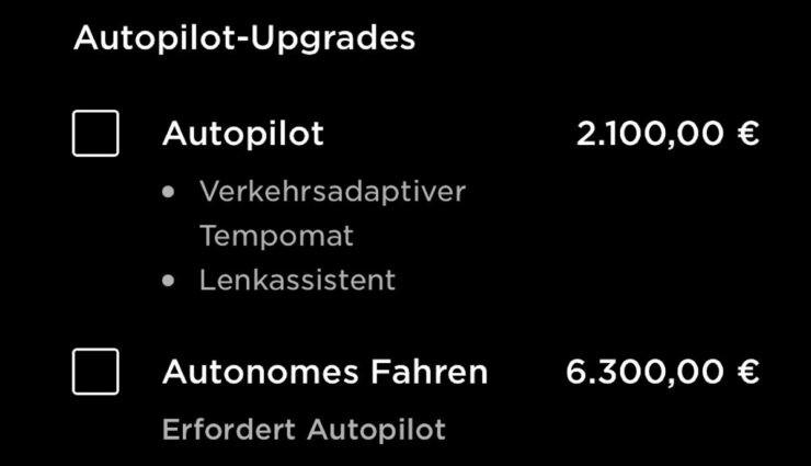 tesla app screenshot autopilot fsd