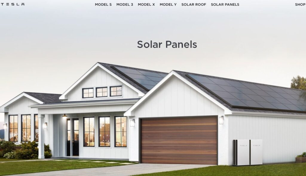 tesla homepage usa solar