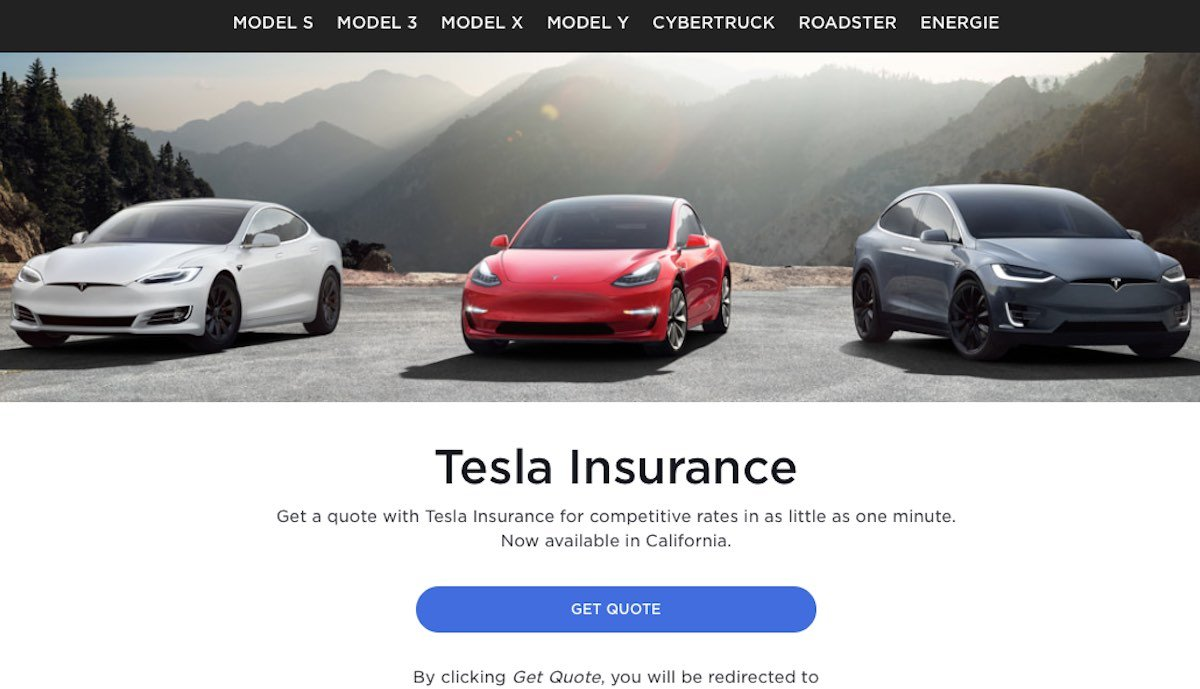 tesla insurance versicherung website