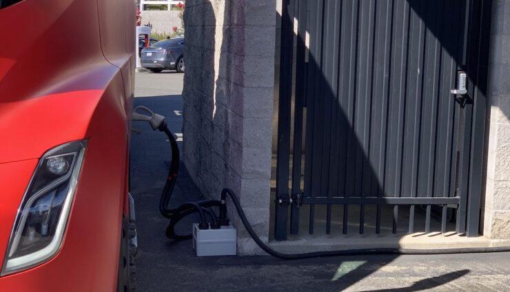 tesla semi supercharger rocklin adapter