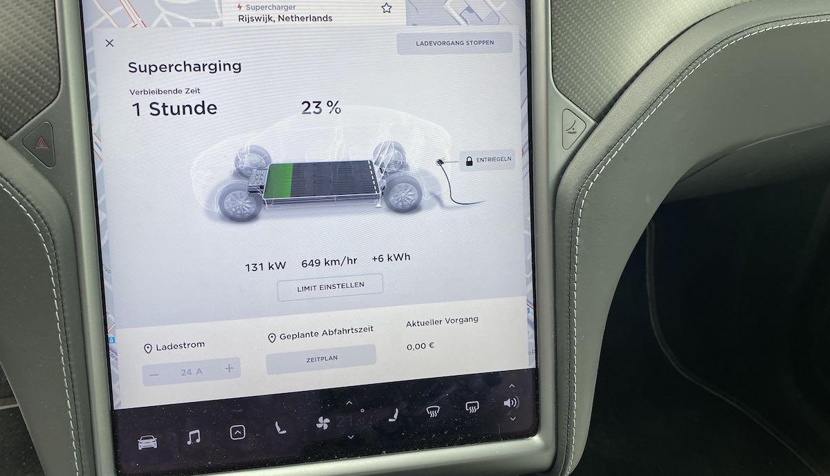 tesla model-x v3 supercharger rijkswijg ladeleistung max