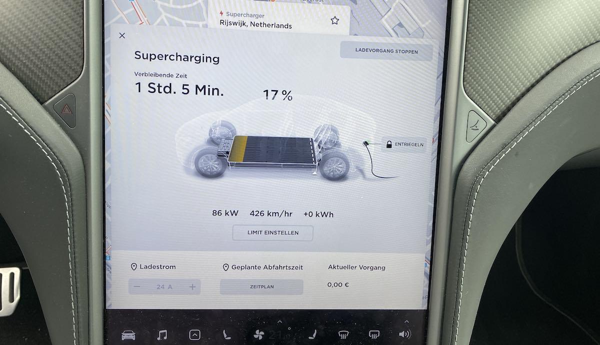 tesla model-x v3 supercharger rijkswijg start
