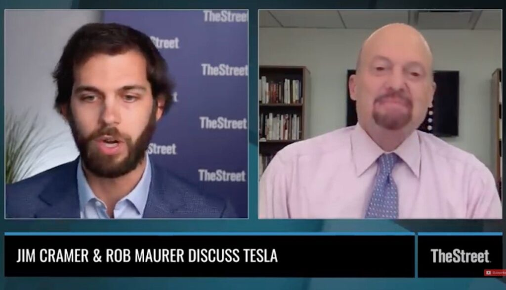 jim cramer interview tesla daily aug20