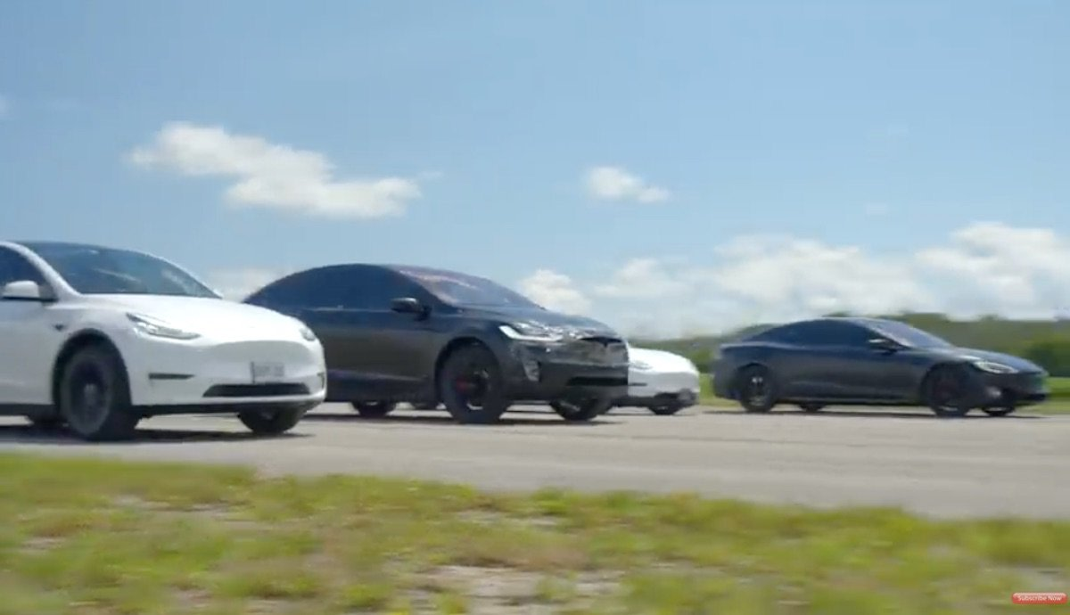 tesla model s-3-x-y performance vergleich drag