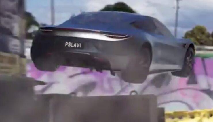 tesla roadster sprung barriere spacex triebwerk