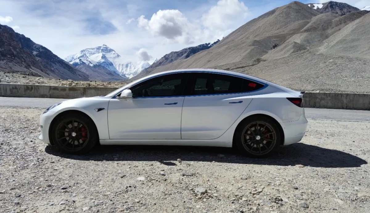 tesla model-3 basis lager mount everest