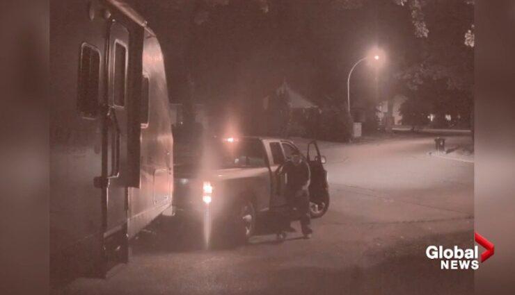tesla sentry pickup diebe wohnwagen