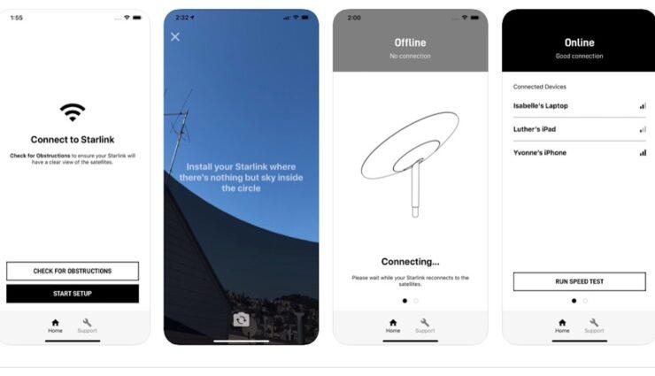 starlink app screenshots