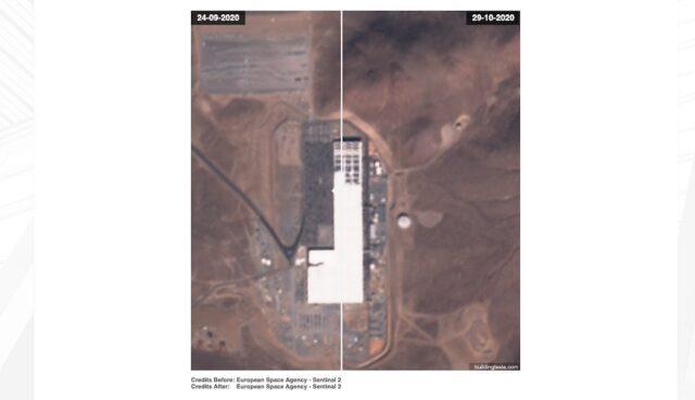 tesla gigafactory nevada satellit solar