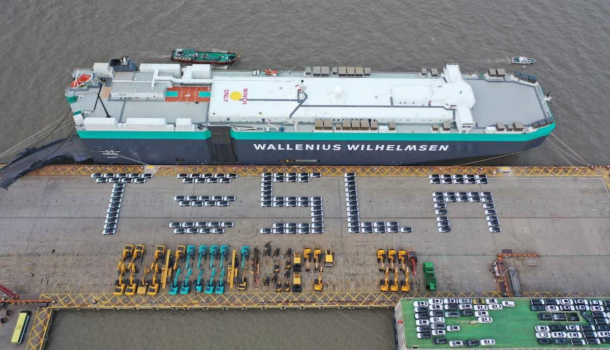 tesla model-3 china schiff europa