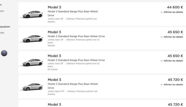 tesla model-3 sr+ sofort web