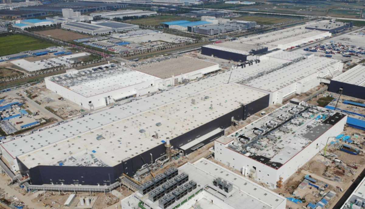tesla gigafactory china model-y luftbild