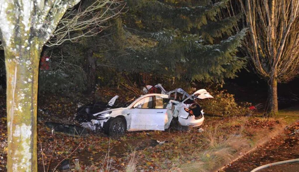 tesla model-3 unfall oregon