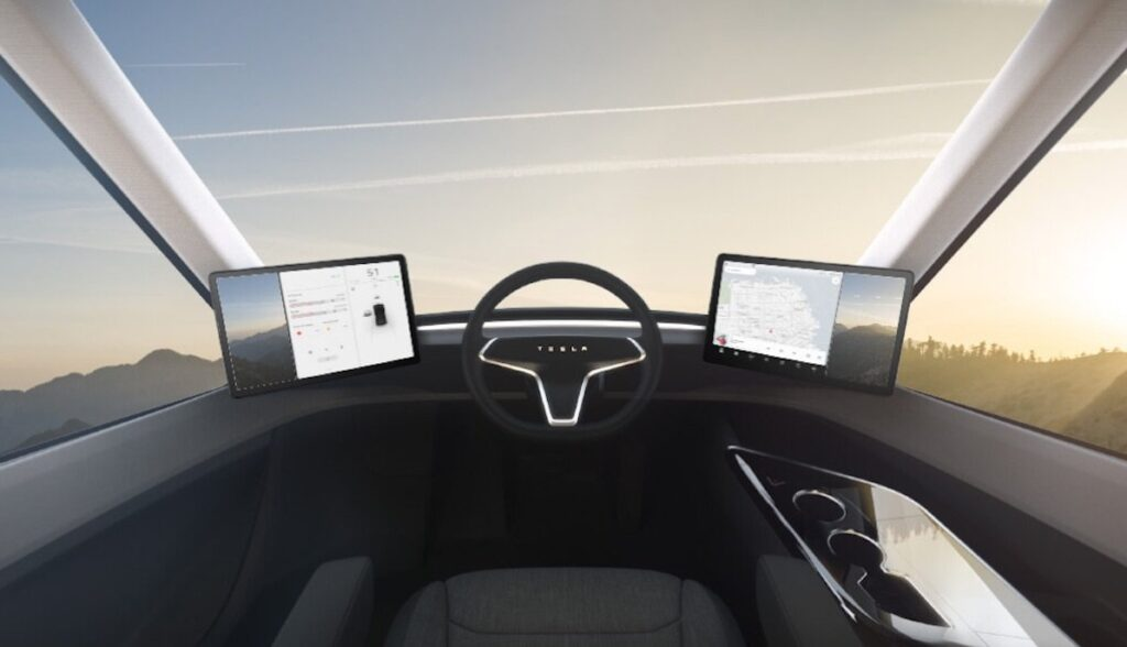 tesla semi cockpit