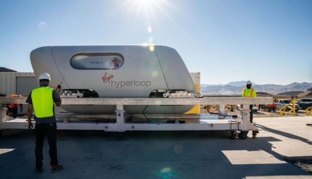virgin hyperloop personen erste fahrt