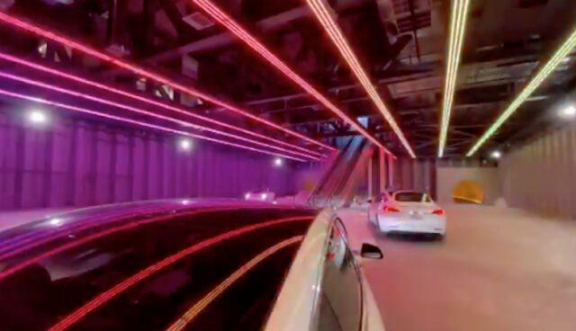boring las vegas tesla tunnel rave
