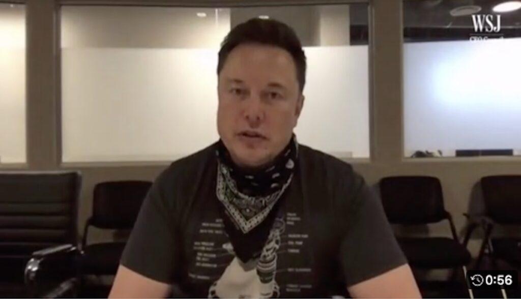elon musk video interview texas