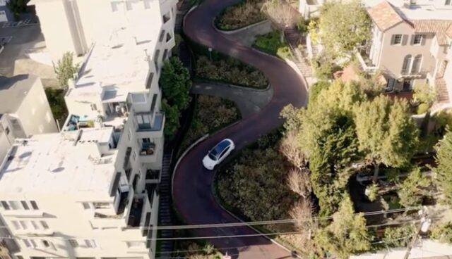 tesla autopilot fsd beta lombard street