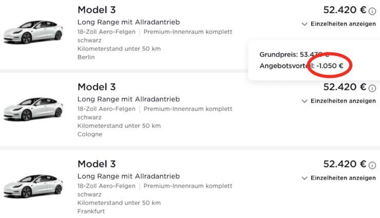 tesla model-3 web preis rabatt lr awd