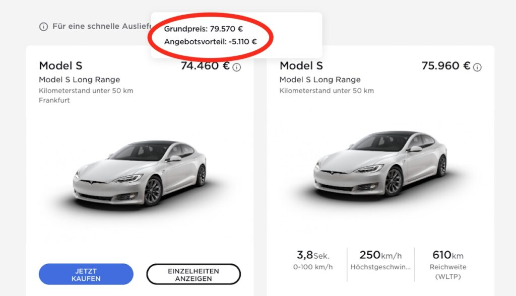 tesla model-s website rabatt