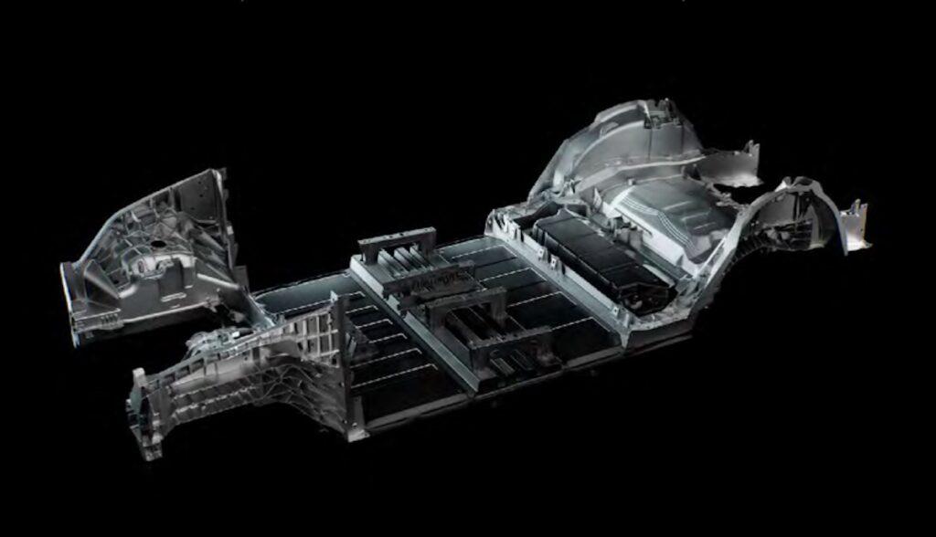 tesla model-y rahmen 4680