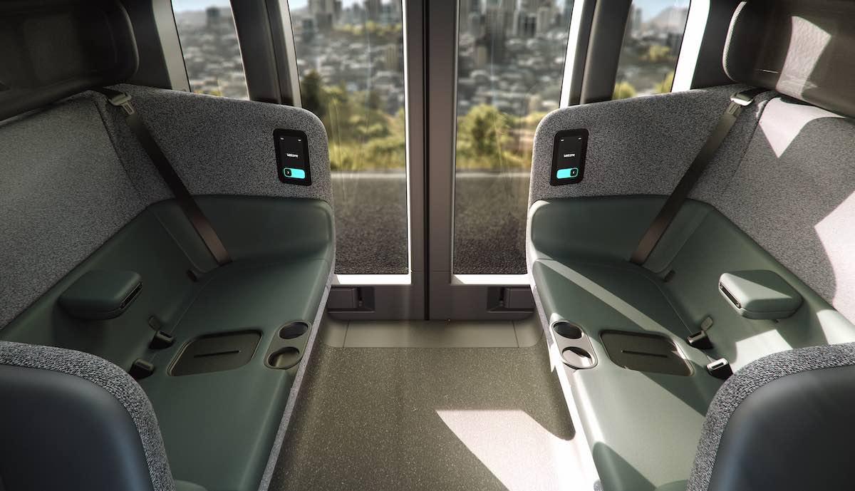 Zoox Fully Autonomous Vehicle Interior