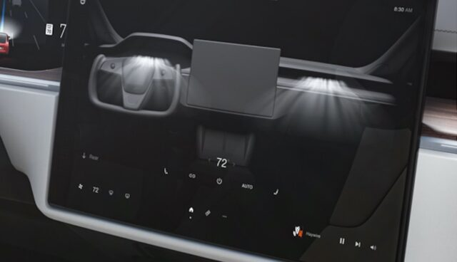 tesla model-s bildschirm klima v11