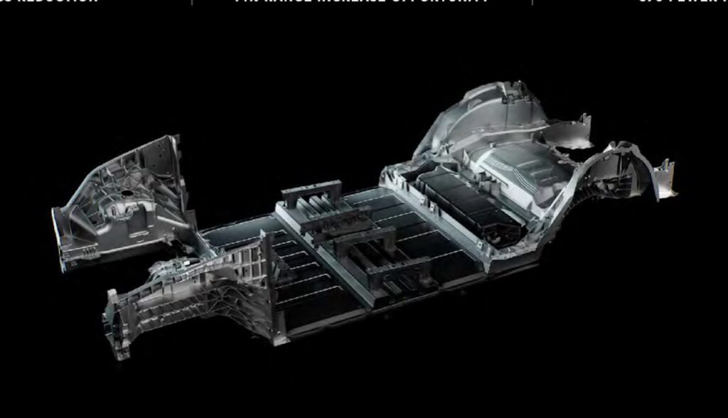 tesla struktur rahmen 4680 zellen