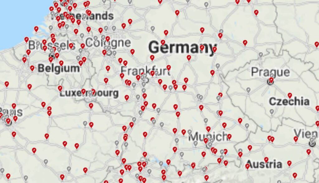 tesla supercharger karte planung 2021 deutschland