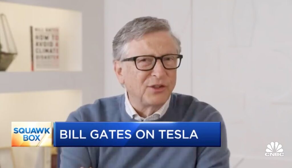 bill gates interview tesla leerverkauf