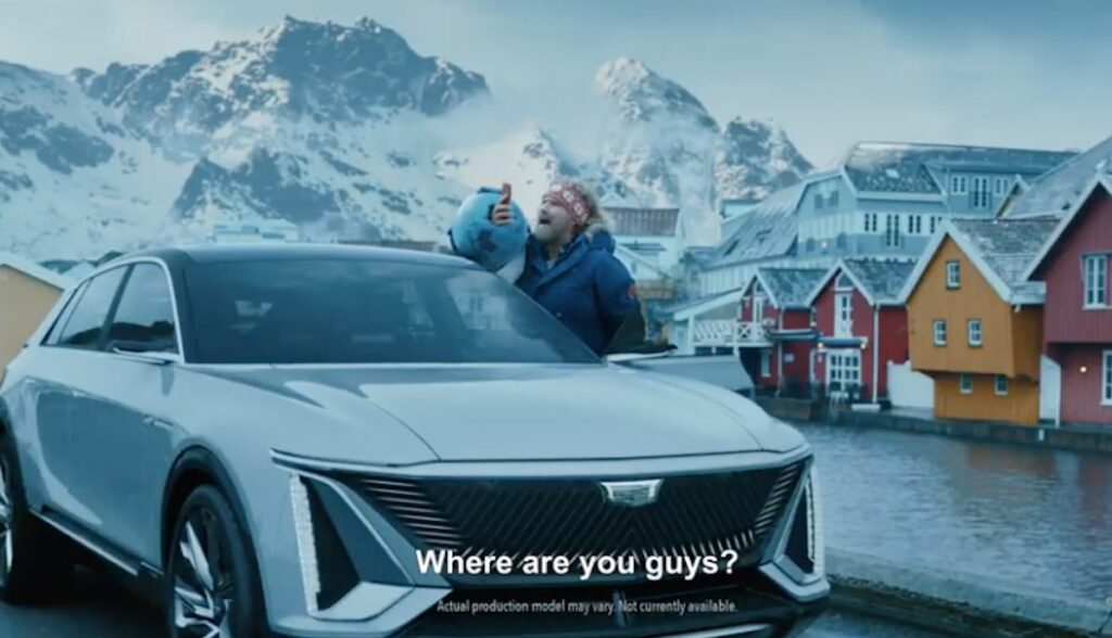 gm elektroauto spot lyriq super bowl ferrell