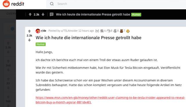 reddit troll tesla bitcoin deutscher student
