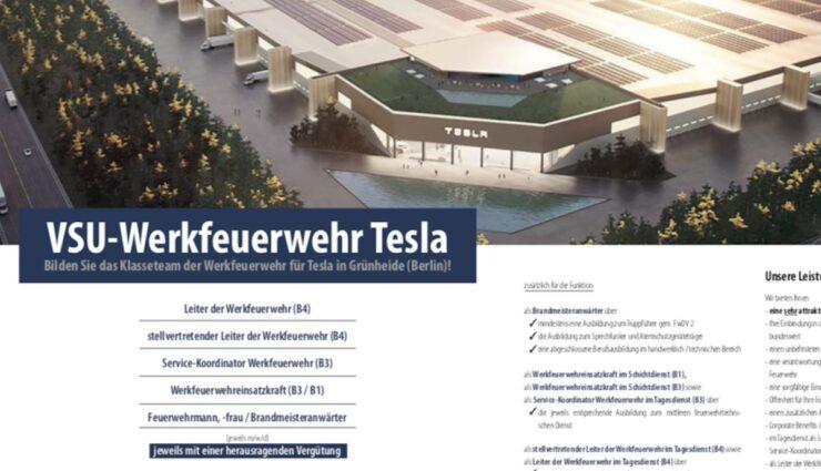 tesla giga berlin werkfeuerwehr jobs vsu